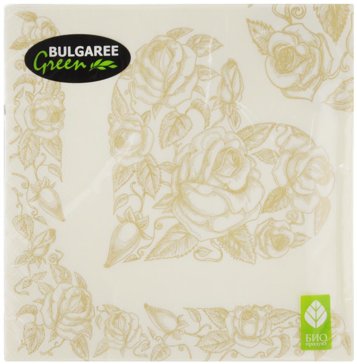 Салфетки бумажные Bulgaree Green Золотое сердце, трехслойные, 33 х 33 см, 20 шт1002696Декоративные трехслойные салфетки Bulgaree Green Золотое сердце выполнены из 100% целлюлозы европейского качества и оформлены ярким рисунком. Изделия станут отличным дополнением любого праздничного стола. Они отличаются необычной мягкостью, прочностью и оригинальностью. Размер салфеток в развернутом виде: 33 х 33 см.
