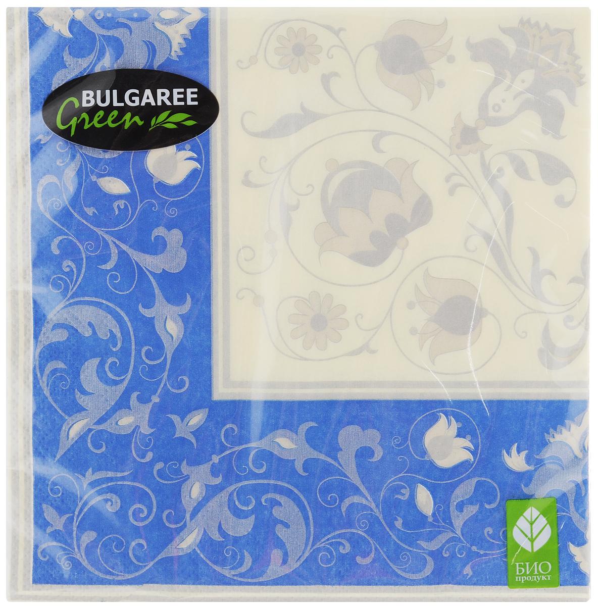 Салфетки бумажные Bulgaree Green Белла, трехслойные, 33 х 33 см, 20 шт1002382Трехслойные салфетки Bulgaree Green Белла выполнены из 100% целлюлозы и оформлены красивым рисунком. Изделия станут отличным дополнением любого праздничного стола. Они отличаются необычной мягкостью, прочностью и оригинальностью. Размер салфеток в развернутом виде: 33 х 33 см.