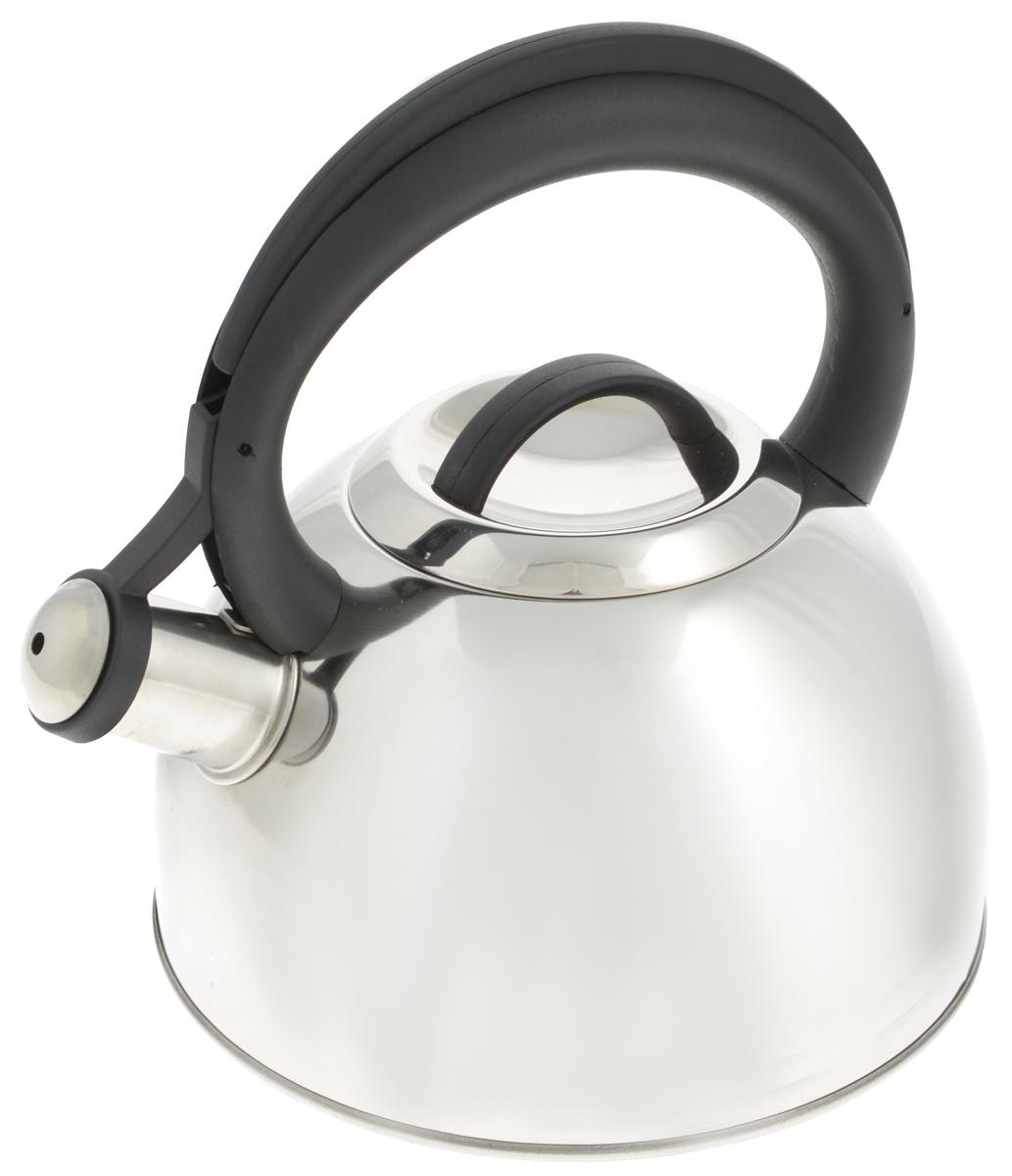 Чайник Tescoma Corona, со свистком, 2 л677460Чайник Tescoma Corona изготовлен из высококачественной нержавеющей стали с многослойным дном. Нержавеющая сталь обладает высокой устойчивостью к коррозии, не вступает в реакцию с холодными и горячими продуктами и полностью сохраняет их вкусовые качества. Особая конструкция дна способствует высокой теплопроводности и равномерному распределению тепла. Чайник оснащен жаропрочной пластиковой ручкой. Носик чайника имеет откидной свисток, звуковой сигнал которого подскажет, когда закипит вода. Подходит для всех типов плит, включая индукционные. Диаметр чайника (по верхнему краю): 10 см. Высота чайника (без учета ручки и крышки): 11,5 см. Высота чайника (с учетом ручки): 23 см.