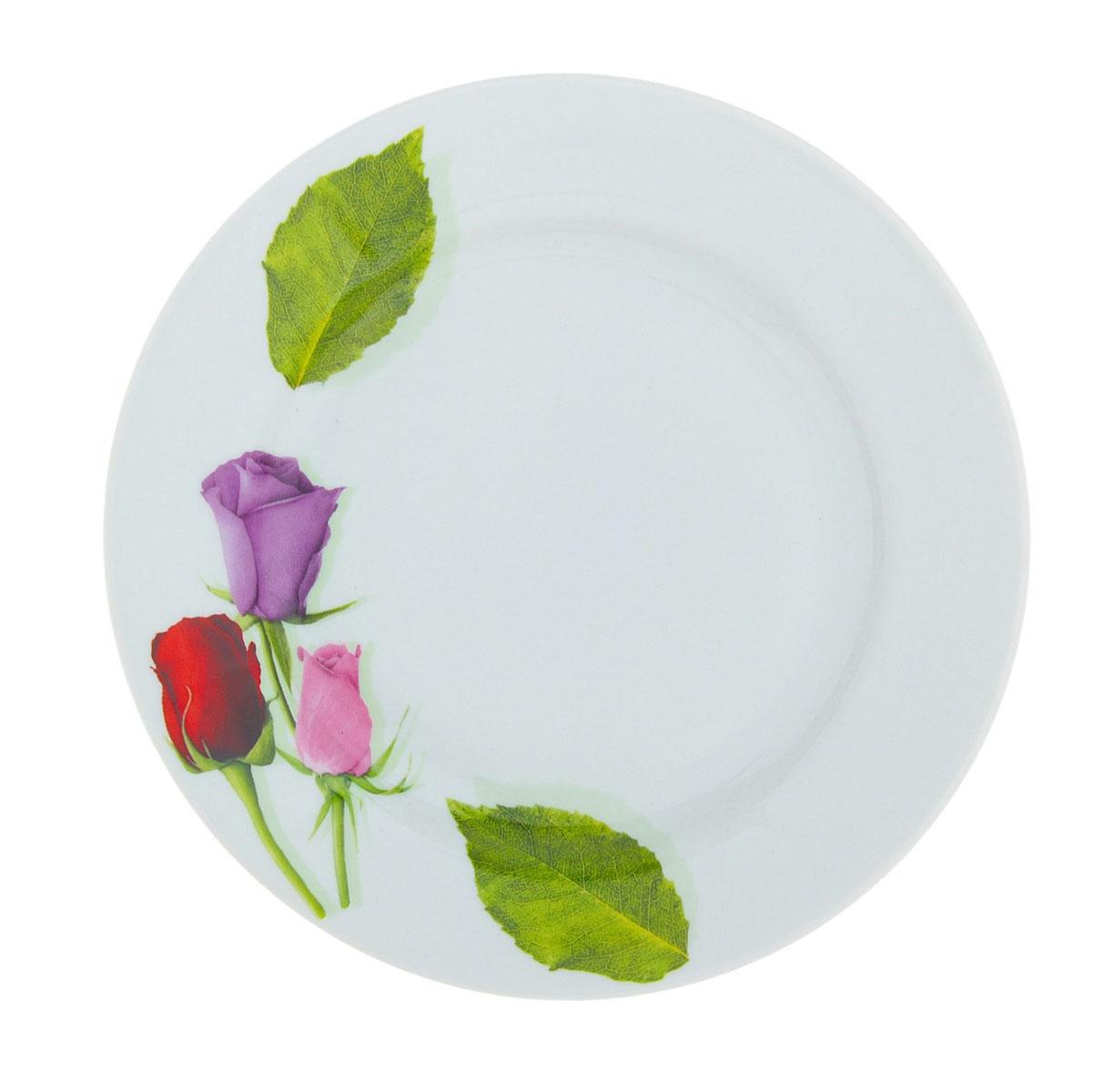 Тарелка мелкая Идиллия. Королева цветов, диаметр 20 см507754