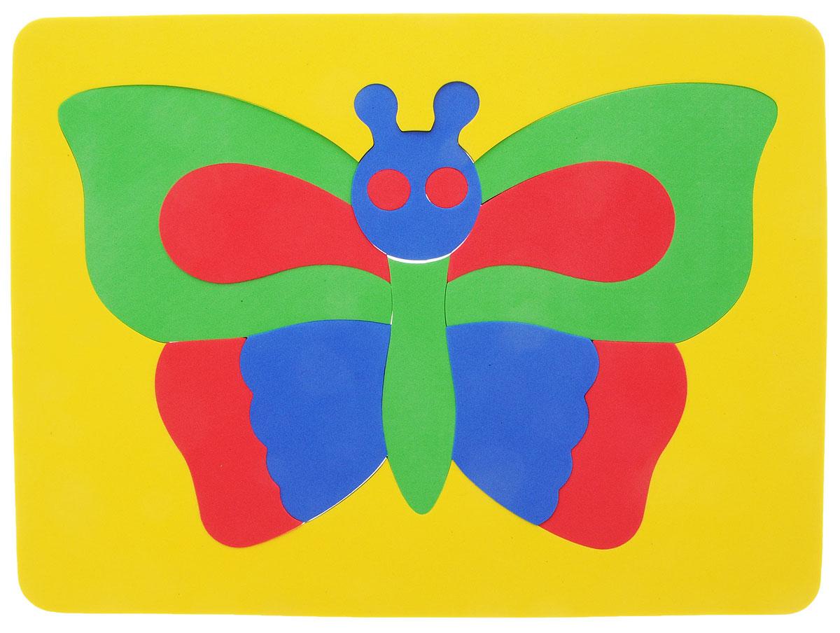Фантазер Пазл для малышей Бабочка цвет основы желтый 063551Б_желтый