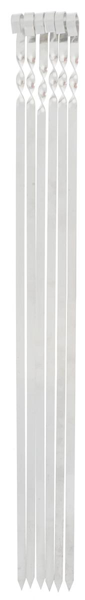 Набор плоских шампуров RoyalGrill, длина 62 см, 6 шт61094Набор RoyalGrill состоит из 6 плоских шампуров, предназначенных для приготовления шашлыка. Изделия выполнены из высококачественной нержавеющей стали. Функциональный и качественный набор шампуров поможет вам в приготовлении вкусного шашлыка на открытом воздухе. Ширина: 1 см. Толщина: 1,5 мм.