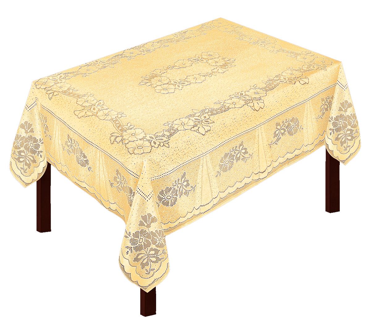 Скатерть Zlata Korunka, прямоугольная, цвет: золотистый, 175 х 150 см531-401Скатерть выполнена из полиэстера жаккардового переплетения, не скользит со стола, легко стирается и прослужит Вам долгое время.