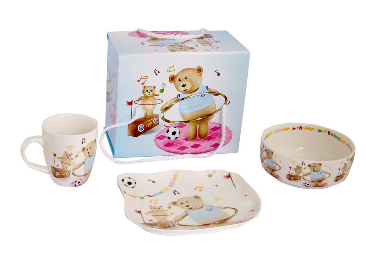 Rosenberg Набор детской посуды 87803807000151плоская тарелка 17.5 х 15 см, глубокая тарелка 12.5 х 12.5 см,300ml кружка 175ml