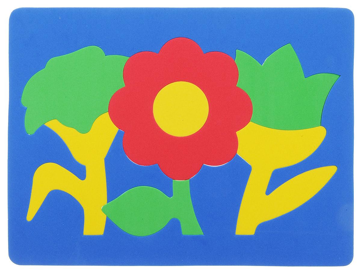 Фантазер Пазл для малышей Цветы цвет основы синий 063551Ц_синий основа