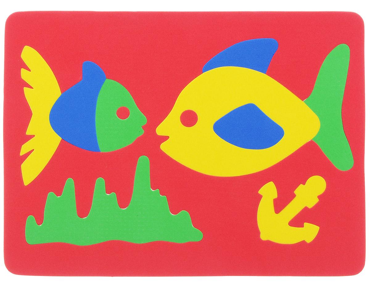 Фантазер Пазл для малышей Рыбки цвет основы красный 063551Р_красный