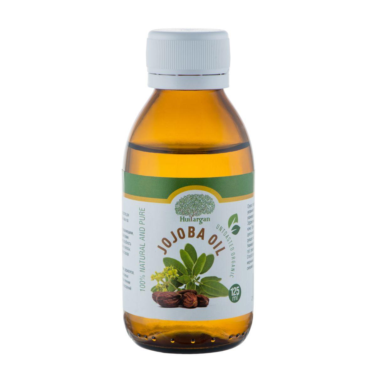 Huilargan Масло жожоба, 100% органическое, 125 млБ33041Масло жожоба (Jojoba oil) – 'то идеальное средство для ежедневного ухода за кожей всех типов, также как и за волосами любой структуры и типов. Оно обладает высокими регенерирующими, увлажняющими, противовоспалительными и смягчающими свойствами. Богато витамином Е. Отличная проникающая способность масла обеспечивает полное всасывание в кожу и волосы, поэтому оно не оставляет на лице и волосяных стволах жирного блеска.Масло жожоба применяется при лечении экзем, дерматитов, нейродермитов, псориаза и других серьезных кожных проблемах – в лечебных мазях.В комплексном лечении акне, фурункулов, угревой сыпи и различных воспалений и высыпаний на коже.Сухую, пересушенную, шелушащуюся и воспаленную кожу оно увлажняет и питает, проникая в глубокие слои кожи, идеально ухаживая за кожными структурами лица, шеи, груди и декольте. Эффективно разглаживает морщины при дряблой, стареющей коже.Прекрасное средство после бритья, поэтому его рекомендуется использовать как смягчающее средство после травмирующего кожу бритья.Ухаживает за губами, увлажняя их. Исчезает излишняя сухость губ, трещинки и шелушение на губах и вокруг них.