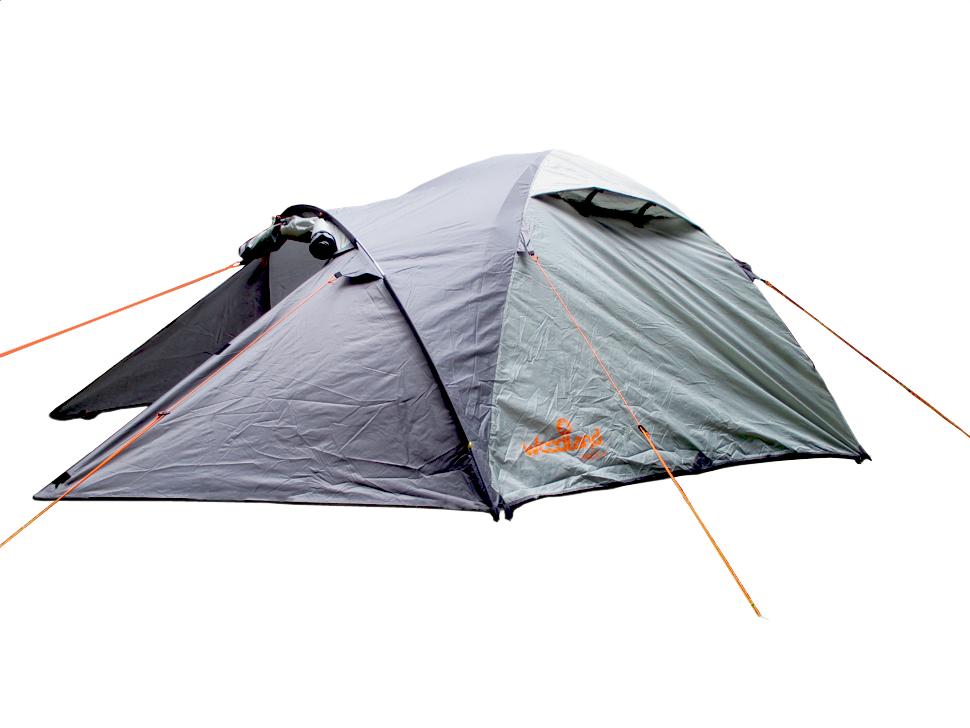 Палатка туристическая WoodLand TREK 2, цвет: темно-оливковый, серый30748Тент: 100% полиэстер 75D/190T PU 5000мм в ст Внутр. палатка: 100% дышащий полиэстер Д но: 100% полиэстр, 75D/195T 7000мм в ст Каркас: 8.5 мм HQ FiberGlass Вес: 3.9 кг. Двухслойная палатка с двумя входами. Два Q - образных входа, дублированных антимоскитной сеткой (больше возможностей для улучшения вентиляции в дождливую погоду). Монтажные элементы (угловые стропы с люверсами) внутренний палатки и тента выполнены в ярких цветах, для быстрого обнаружения в траве. Дополнительные люверсы для дуг в угловых стропах внутренний палатки. Кармашки для мелочей, крючок для фонарика. Дополнительные кармашки, чтобы убирать открытый полог входа. Оттяжки со светоотражающей вставкой. Кармашки для оттяжек. Удобные пряжки для регулировки длины оттяжки. Два вентиляционных клапана с защитой от косого дождя. Внешний тент палатки устойчив к ультрафиолетовому излучению. Большой, вместительный тамбур. Все швы проклеены. Идеальна для...