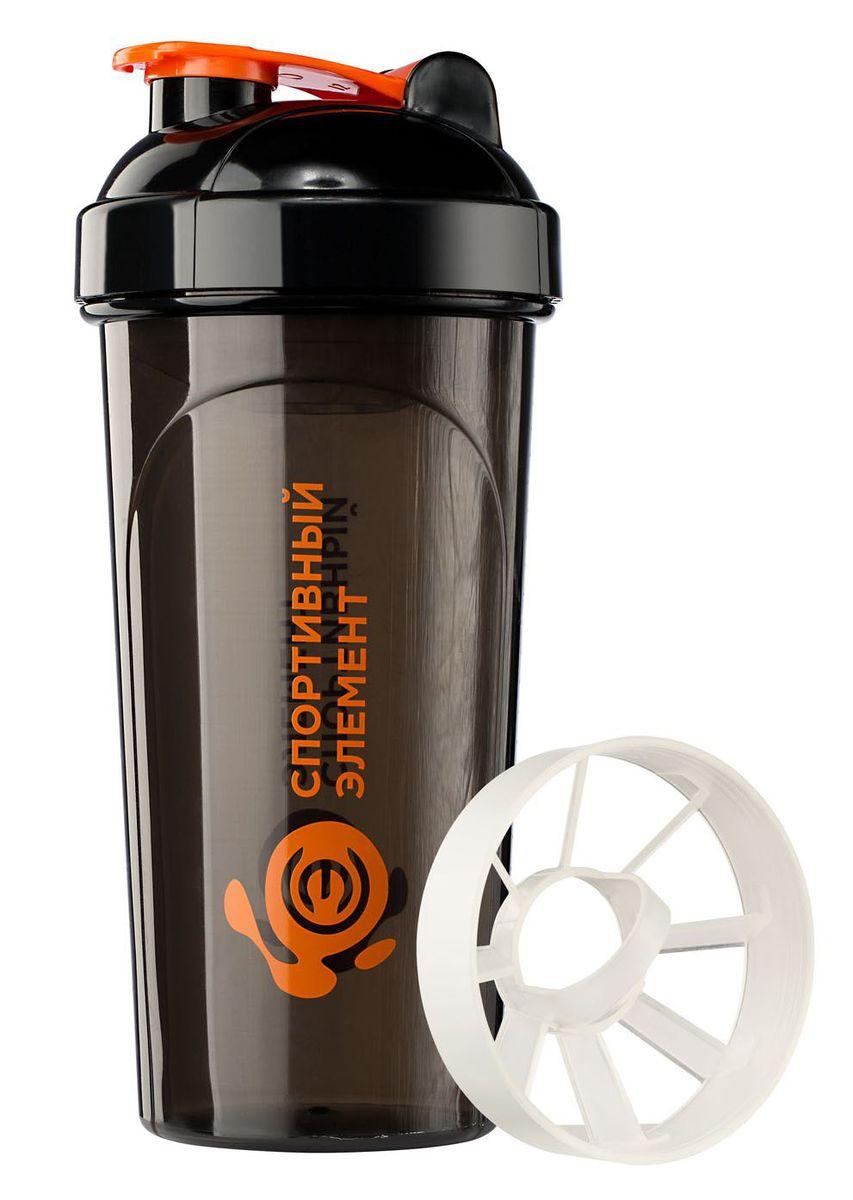 Шейкер Спортивный элемент Турмалин, 700 мл. S02-700891982_белыйСпортивный шейкер, S02-700, 700 мл. Черный полупрозрачный стакан, оранжевый лого, оранжевая защелка, черная крышка, белая сеточка для фильтрации комков, шкала для определения объема.Стильная модель с удобным носиком для питья