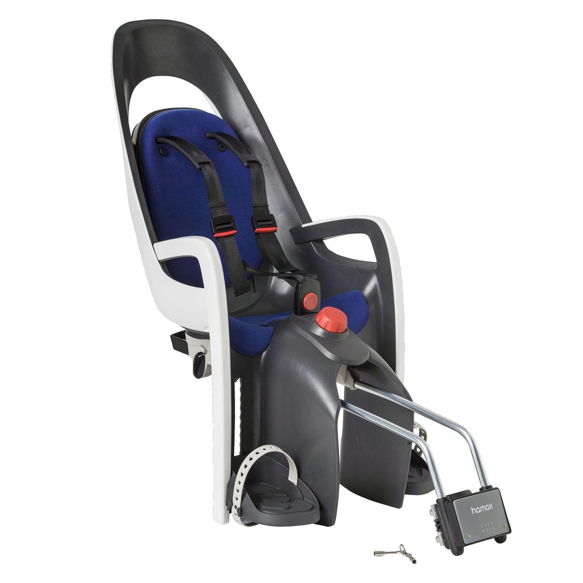 Детское кресло Hamax Caress W/Lockable Bracket, цвет: серый, белый, синий553002Кресло для перевозки детей