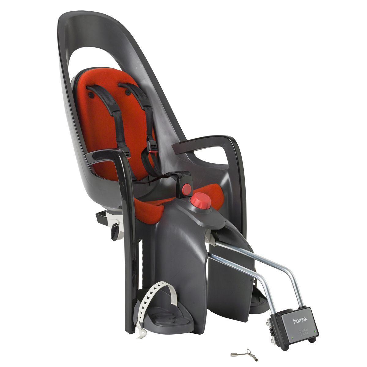 Детское кресло Hamax Caress W/Lockable Bracket, цвет: серый, красный553005Кресло для перевозки детей