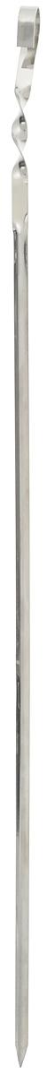 Шампур угловой RoyalGrill, длина 62 см80-067Угловой шампур RoyalGrill, изготовленный из высококачественной нержавеющей стали, предназначен для приготовления пищи из мяса, рыбы, птицы, овощей на открытом воздухе. Во время вращения шампура нанизанная на него еда не будет переворачиваться. Ручка-винт фиксирует шампур на мангале. Толщина шампура: 1 мм. Ширина: 1 см.
