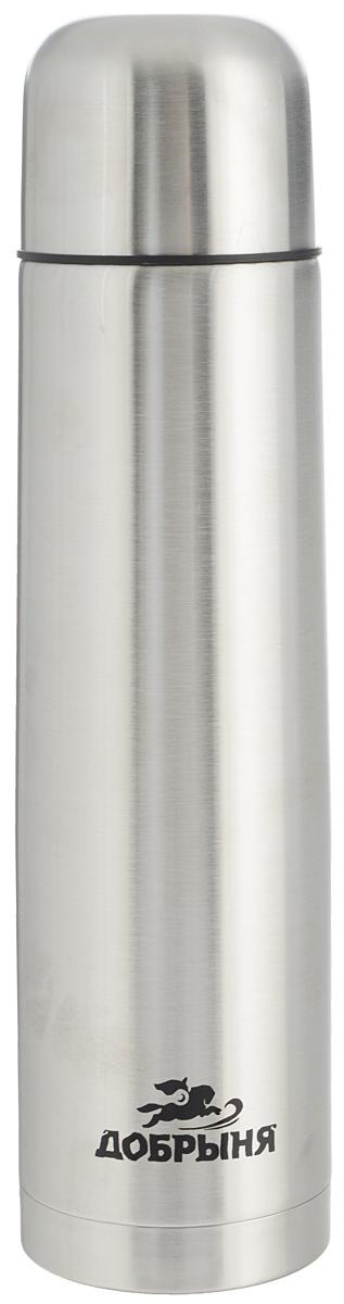 Термос Добрыня, 0,75 л. DO - 1802DO - 1802Дорожный термос Добрыня выполнен из нержавеющей стали с матовой полировкой. Внутренняя колба выполнена из высококачественной нержавеющей стали. Термос имеет вакуумную прослойку между внутренней колбой и внешней стенкой. Специальная термоизоляционная прокладка удерживает тепло. Термос снабжен плотно прилегающей закручивающейся пластиковой пробкой с нажимным клапаном. Для того чтобы налить содержимое термоса нет необходимости откручивать пробку. Достаточно надавить на клапан, расположенный в центре. Легкий и удобный, термос Добрыня станет незаменимым спутником в ваших поездках. Размер термоса (с учетом крышки): 7,5 х 7,5 х 28,5 см. Диаметр крышки (по верхнему краю): 7 см.