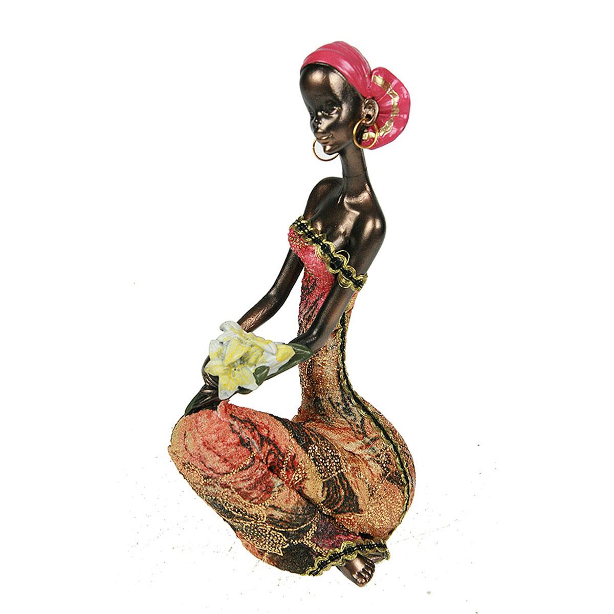 Статуэтка Русские Подарки Африканка, 7 х 9 х 18 см20610Статуэтка Русские Подарки Африканка, изготовленная из полистоуна, имеет изысканный внешний вид. Изделие станет прекрасным украшением интерьера гостиной, офиса или дома. Вы можете поставить статуэтку в любое место, где она будет удачно смотреться и радовать глаз. Правила ухода: регулярно вытирать пыль сухой, мягкой тканью.