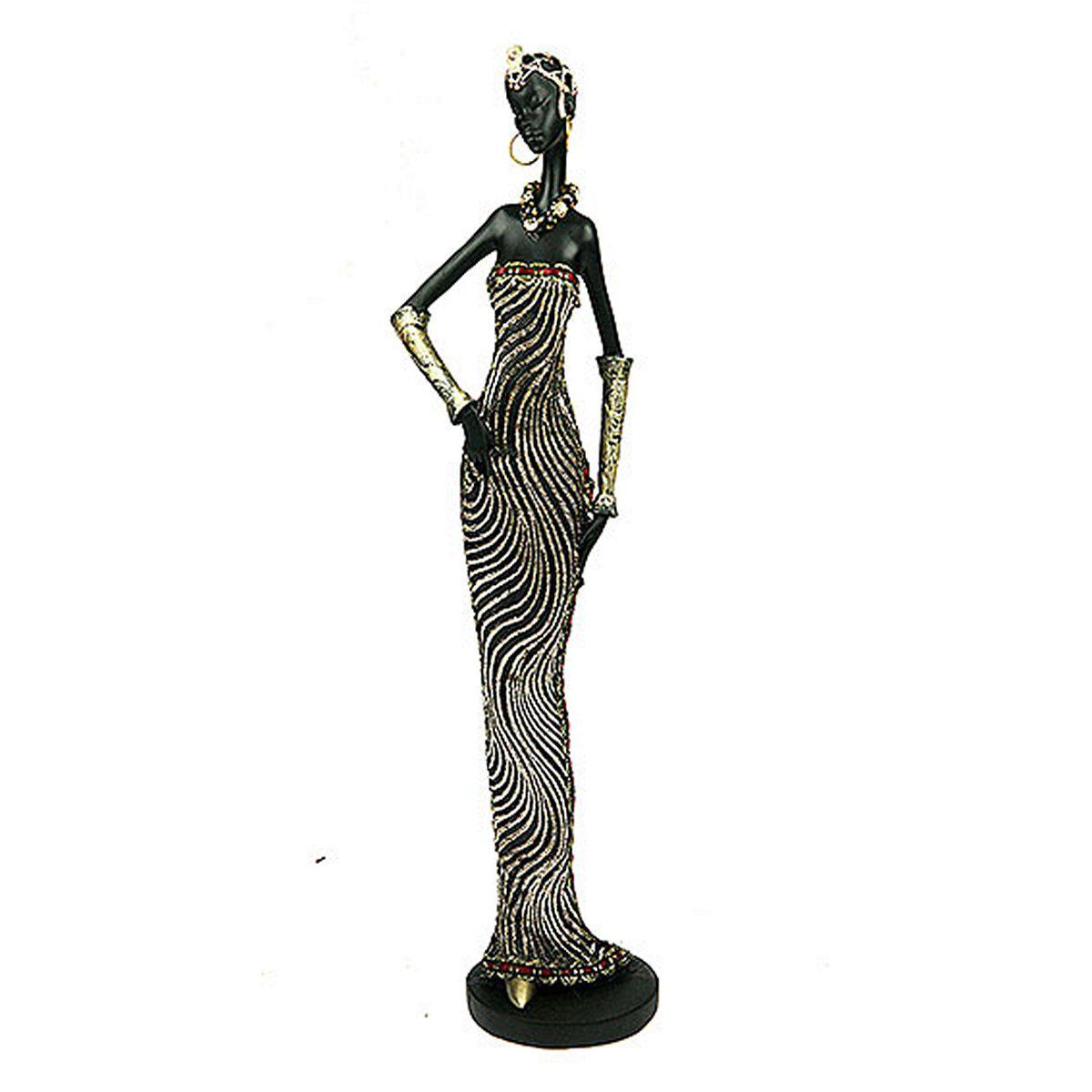 Статуэтка Русские Подарки Африканка, 7 х 8 х 32 смUP210DFСтатуэтка Русские Подарки Африканка, изготовленная из полистоуна, имеет изысканный внешний вид. Изделие станет прекрасным украшением интерьера гостиной, офиса или дома. Вы можете поставить статуэтку в любое место, где она будет удачно смотреться и радовать глаз. Правила ухода: регулярно вытирать пыль сухой, мягкой тканью.