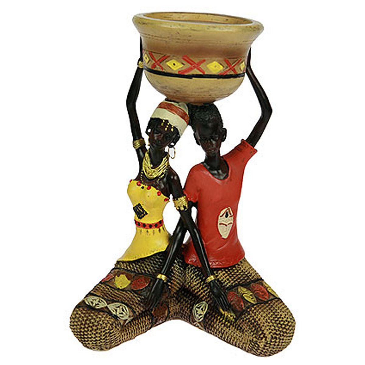 Статуэтка Русские Подарки Африканка, 16 х 12 х 23 см. 26137ES-412Статуэтка Русские Подарки Африканка, изготовленная из полистоуна, имеет изысканный внешний вид. Изделие станет прекрасным украшением интерьера гостиной, офиса или дома. Вы можете поставить статуэтку в любое место, где она будет удачно смотреться и радовать глаз. Правила ухода: регулярно вытирать пыль сухой, мягкой тканью.