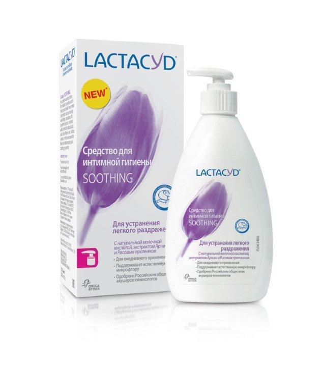 Lactacyd Ежедневное средство для интимной гигиены Смягчающее 200мл784039Для устранения легкого раздражения, с натуральной молочной кислотой, экстрактом Арники и Рисовым протеином. Смягчающая формула Lactacyd Soothing c Рисовым протеином и экстрактом Арники, создана специально для смягчения и снятия легкого раздражения в интимной зоне. А отсутствие мыла и наличие натуральной молочной кислоты в Lactacyd Soothing помогают поддерживать естественную микрофлору интимной cферы.