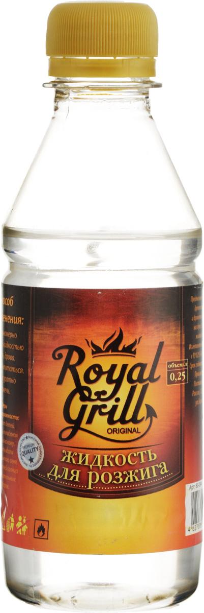 Жидкость для розжига RoyalGrill, 0,25 л80-094Жидкость RoyalGrill предназначена для розжига древесного угля, дров, брикетов и другого твердого топлива. Затопить камин, разжечь костер и мангал - эта жидкость справиться очень легко. Способ применения: 1. Равномерно полить жидкостью уголь, дрова. 2. Дать впитаться. 3. Аккуратно разжечь. Меры предосторожности: Беречь от детей. Избегать попадания в глаза и на кожу. Хранить вдали от открытого огня, прямых лучей солнца и нагревательных приборов. Состав: смесь жидких парафинов.