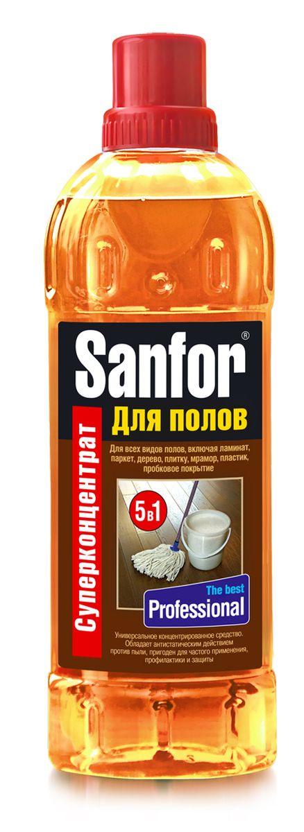 Средство для мытья полов Sanfor Профессионал, 920 мл4602984004881Средство универсальное для мытья полов концентрированное Sanfor для полов подходит для ухода за любыми полами и поверхностями по всему дому: ламинат, линолеум, паркет, дерево, керамическая плитка, мрамор, пробковое покрытие, пластик, окрашенные поверхности. Оригинальный состав базируется на специально разработанной формуле с содержанием безопасных активных веществ и силиконов.