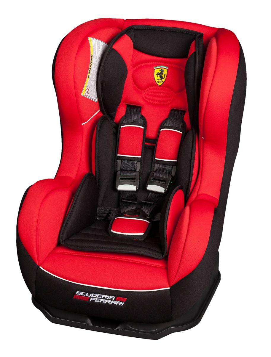 Nania Автокресло Cosmo SP Ferrari Corsa до 18 кгCA-3505Автокресло Nania Cosmo SP относится к группе 0-1, от рождения до 4-х лет (0-18 кг). Соответствует стандартам ECE R44/04. Автокресло Nania Cosmo SP имеет специальный мягкий вкладыш и подголовник. Дополнительная усиленная боковая защита, 3 положения спинки, 5-ти точечный ремень безопасности с удобной системой натяжения. Новая система крепления автокресла облегчает его установку в автомобиль. Надежное крепление к автомобильному сиденью по ходу движения автомобиля (ремень автомобиля проходит между основой и корпусом автокресла). Устанавливается в автомобилях с 3-х точечными ремнями безопасности на переднем или заднем сиденье. Автокресло Nania Cosmo SP было разработано на основе требований безопасности, а также ортопедических факторов: мягкие обивка и подушки, а также анатомическая форма обеспечивает комфорт даже в дальних поездках. Система боковой защиты Side Protection (SP) обеспечивает необходимую безопасность даже при боковом столкновении. 5-ти точечные ремни безопасности можно регулировать не только по длине и высоте, но и снять совсем, когда ребенок подрастет.Серия FERRARI - фирменные цвета итальянского спорткара в сочетании с автокреслом серии LUXE. Автокресло гарантирует европейское качество и обеспечивает безопасность пассажира. Кроме того, предлагается дополнительный комфорт за счет подушек в районе головы и таза, которые при необходимости можно убрать.