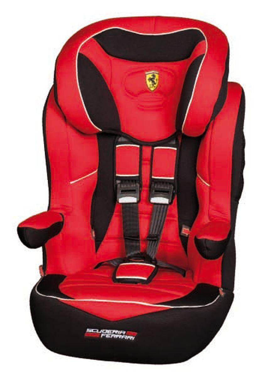 Nania Автокресло Imax SP Ferrari Corsa от 9 до 36 кгCA-3505Автокресло Nania Imax SP группы 1-2-3 предназначено для детей весом от 9 до 36 кг (от 8 месяцев до 12 лет) и соответствует стандартам ECE R44/04.Благодаря длительному периоду использования и регулируемому по высоте подголовнику Nania Imax SP охватывает все возрастные группы от 8 месяцев до 12 лет (когда кресло уже не нужно). Nania Imax SP было разработано на основе требований безопасности, а также ортопедических факторов: мягкие обивка и подушки, а также анатомическая форма Nania Imax SP обеспечивает комфорт даже в дальних поездках. Nania Imax SP имеет удобные подлокотники, которые при необходимости можно поднять вверх. Система боковой защиты Side Protection (SP) обеспечивает необходимую безопасность даже при боковом столкновении. Подголовник можно отрегулировать по высоте, таким образом автокресло оптимально адаптируется к росту ребенка. 5-ти точечные ремни безопасности можно регулировать не только по длине и высоте, но и снять совсем, когда ребенок подрастет. Обивка выполнена из 100% полистирола, которую легко снимается и моется. Серия FERRARI - фирменные цвета итальянского спорткара в сочетании с автокреслом серии LUXE. Гарантирует европейское качество и обеспечивает безопасность пассажира.Технические характеристики:Внешние размеры (Д х Ш х В): 45 см x 45 см x 72-88 см Внутренние размеры (Д х Ш): 32 см x 40 см.Высота спинки:64 см - 75 см.Вес: 4,7 кг.Монтаж в автомобиле: Задний диван или сиденье пассажира.Направление установка: по ходу движения.Класс: I-III, 9-36 кг.Система крепления: 5-точечные ремни безопасности.Ткань: 100% полиэстер, стирать до 30°C.
