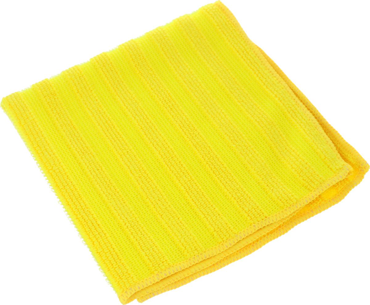 Салфетка Sol Crystal из микрофибры, двухсторонняя, цвет: желтый, 30 x 30 см10503Салфетка Sol Crystal выполнена из микрофибры с разносторонним плетением: одна сторона с абразивными полосками удаляет стойкие загрязнения и известковый налет, другая - мягко полирует поверхности и хорошо впитывает влагу. Можно применять различные моющие средства.Устойчива к деформациям при машинной стирке.Не оставляет разводов и ворсинок.Размер салфетки: 30 х 30 см.