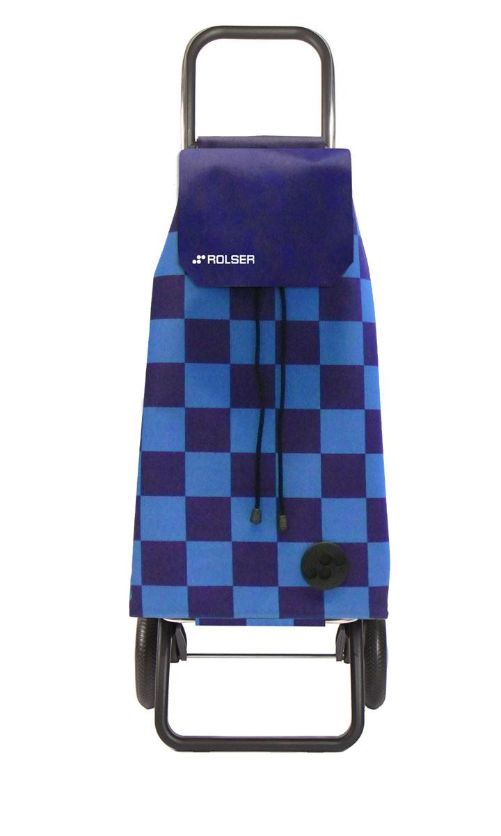 Сумка хозяйственная Rolser, на колесиках, цвет: синий, 51 лIR-F1-WАлюминиевая тележка для покупок Rolser с 2 колесами. Колеса выполнены из резины EVA. Складываемая передняя подставка, занимает минимальное место в сложенном виде при хранении. Сумка имеет форму рюкзака, ткань полиэстер, влагоустойчивая, имеет удобное закрытие сумки и легко крепиться на раме. Тележка не складывается. Объем: 51 л. Диаметр колес: 16,5 см. Рекомендованная нагрузка: 25 кг.Чистка ручная или химчистка.