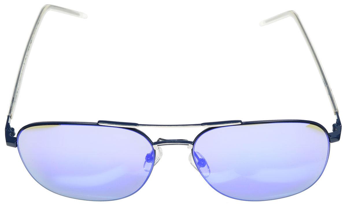 Очки солнцезащитные женские Vitacci, цвет: синий. O175GA-710GB-1AСтильные солнцезащитные очки Vitacci выполнены из металла с элементами из высококачественного пластика.Линзы данных очков обладают высокоэффективным поляризационным покрытием со степенью защиты от ультрафиолетового излучения UV400. Используемый пластик не искажает изображение, не подвержен нагреванию и вредному воздействию солнечных лучей. Оправа очков легкая, прилегающей формы, дополнена носоупорами и поэтому обеспечивает максимальный комфорт.Такие очки защитят глаза от ультрафиолетовых лучей, подчеркнут вашу индивидуальность и сделают ваш образ завершенным.