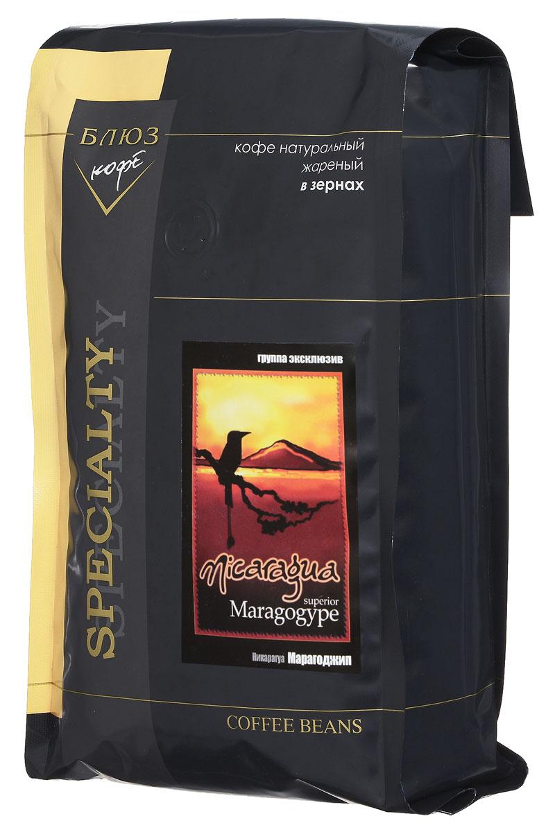 Блюз Марагоджип Никарагуа кофе в зернах, 1 кг4600696410099Марагоджип - один из самых популярных сортов кофе. В нем сплелись традиции и новаторство, ручной труд и высокие технологии. Напиток имеет горьковато-вяжущий с легкими винными нотками вкус и тонкий аромат. Настой терпкий густой, присутствует короткое послевкусие.
