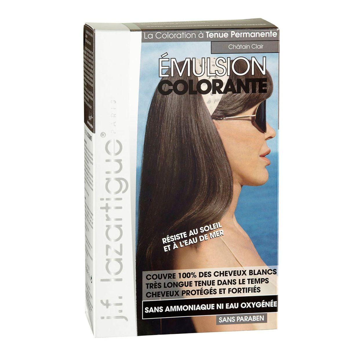 J.F.Lazartigue Оттеночная эмульсия для волос Светлый каштан 60 мл01709Благодаря оригинальной формуле полностью (на 100%) скрывает седину, длительное время сохраняет цвет, поддерживает здоровье и жизненную силу волос и сохраняет эти качества, несмотря на воздействие солнечных лучей, морской воды и прочих неблагоприятных экологических факторов. Не осветляет, не повреждает, а укрепляет волосы. Не содержит аммиака, перекиси водорода и парабенов. Не предназначена для окрашивания бровей и ресниц.