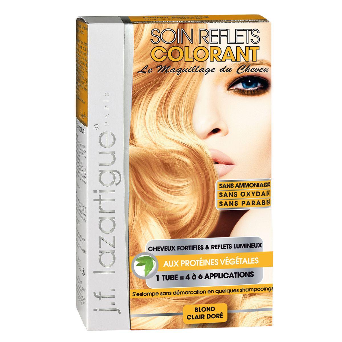 J.F.Lazartigue Оттеночный кондиционер для волос Золотистый светлый блондин 100 млMP59.4DОттеночный кондиционер J.F.LAZARTIGUE – это лечебный макияж для Ваших волос. Два эффекта: кондиционирование волос и легкий оттенок. Особенности: придает новый или более теплый (или холодный) оттенок, делает тон темнее или акцентирует цвет, оживляет естественный цвет или придает яркость тусклым и выцветшим на солнце волосам. Закрашивает небольшой процент седины! После мытья волос шампунем (3-6 раз) смывается. Для достижения индивидуального оттенка можно смешать два разных кондиционера: добавить к выбранному ТЕМНЫЙ РЫЖИЙ (Auburn), МЕДНЫЙ (Copper) и т.п. Не осветляет волосы. Не содержит аммиака и перекиси водорода. Не содержит парабенов. Не предназначен для окрашивания бровей и ресниц.