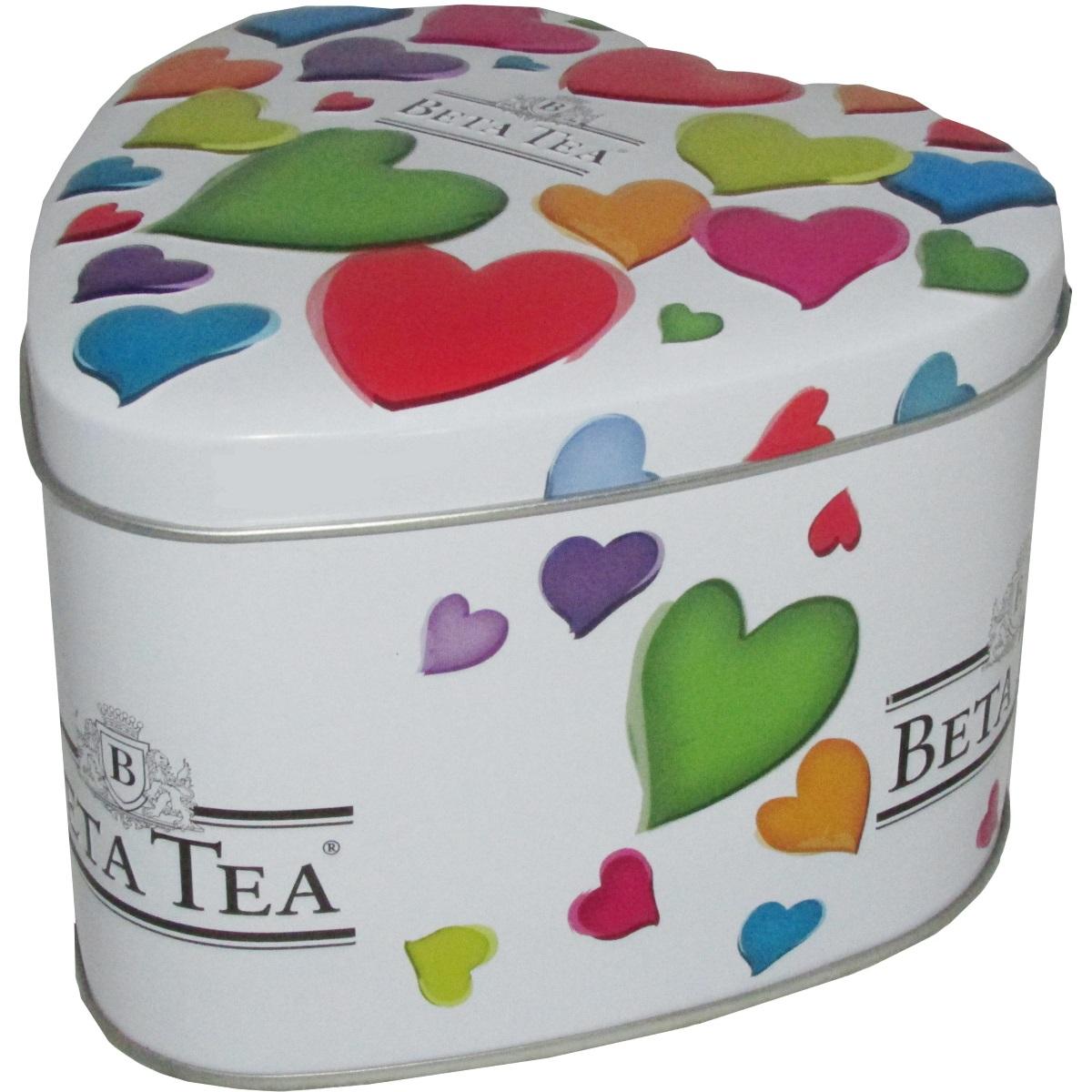 Beta Tea Маленькие сердца черный чай, 100 г (музыкальная шкатулка)0120710Черный цейлонский байховый среднелистовой чайBeta Маленькие сердца. Оригинальная упаковка чая в виде сердца с музыкальным механизмом станет идеальным подарком по любому поводу.Подарок от всего сердца - любовная история, сокрытая в музыкальной шкатулке с романтичной мелодией!