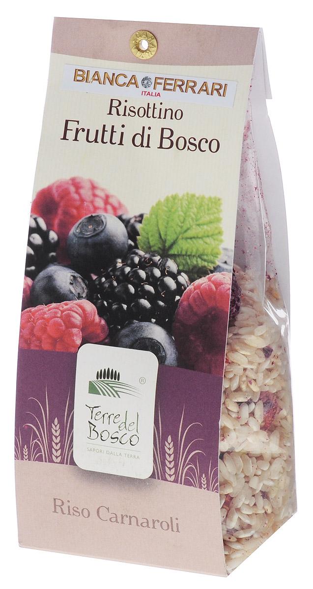 Terre Del Bosco Лесные ягоды рис для ризотто, 250 г0120710Terre Del Bosco Лесные ягоды - превосходный тонкий рис высшего сорта с лесными ягодами для ризотто. Варить в подсоленной кипящей воде медленно помешивая.