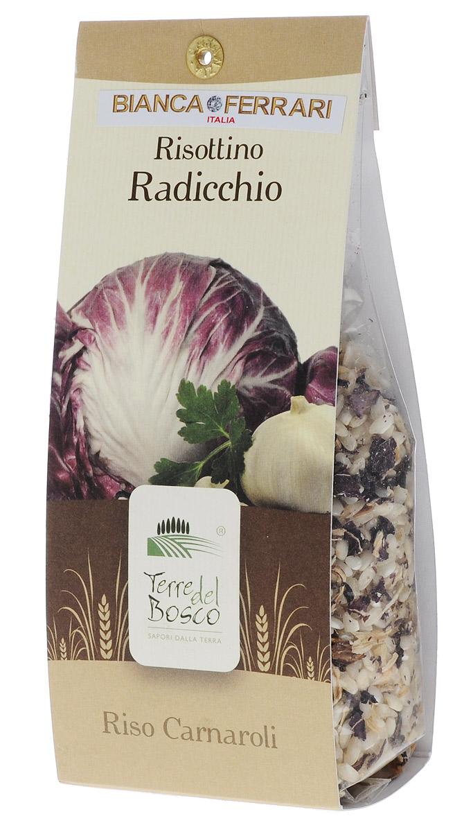 Terre Del Bosco Радиккьо рис для ризотто, 250 гBF.005.RATerre Del Bosco Радиккьо - превосходный тонкий рис высшего сорта с луком и цикорием для ризотто. В состав входят три вида цикория: радиччио, эскариол, а также итальянский цикорий. Варить в подсоленной кипящей воде, медленно помешивая.