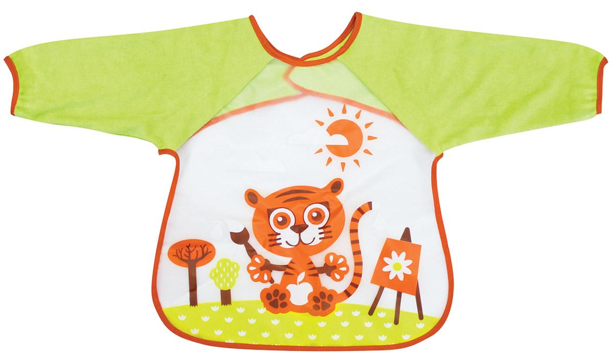 Lubby Нагрудник детский с рукавами В мире животных 14077