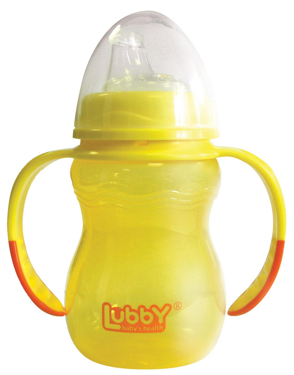 Lubby Поильник-непроливайка Классика от 6 месяцев цвет желтый 250 мл