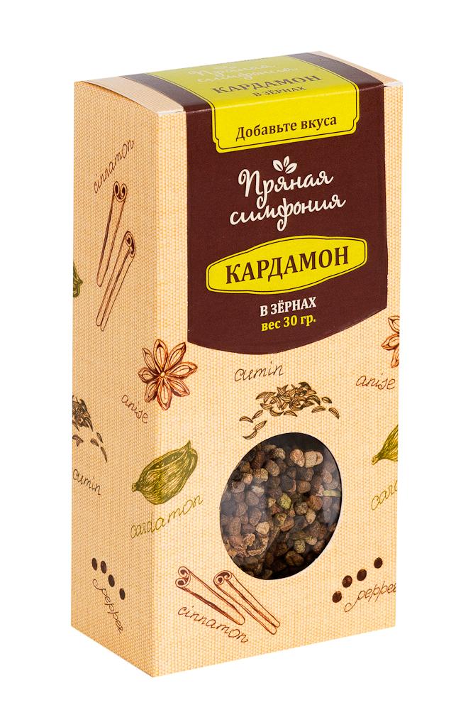 Пряная Симфония Кардамон в зернах, 30 гМ4535Кардамон - одна из самых дорогих пряностей в мире. Его аромат, в котором сочетаются дымные, цветочные и сладкие нотки просто, невозможно забыть. Наверное, поэтому кардамон является одним из базовых элементов для многих блюд арабской и индийской кухни. Аромат кардамона - это аромат Востока.