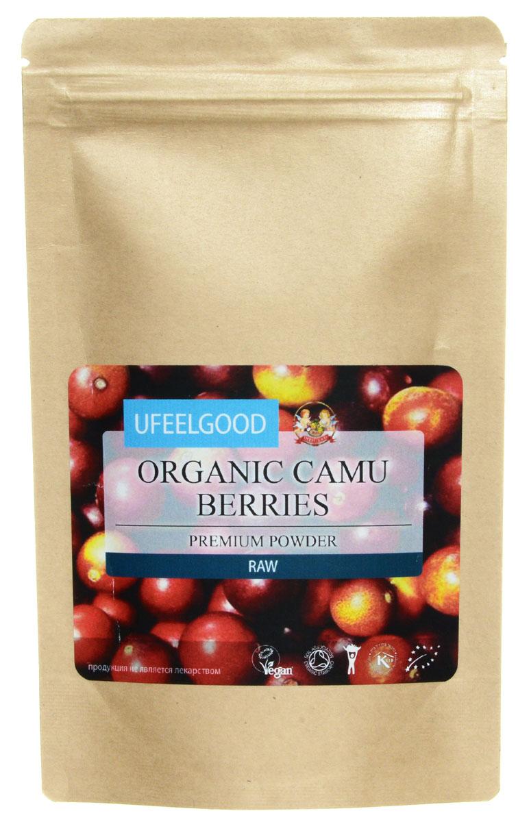UFEELGOOD Organic Camu Berries Premium Powder ягода каму-каму молотая, 100 г56Основное преимущество ягоды каму-каму связано с высоким содержанием витамина С, которого в 30 раз больше, чем во фруктах оранжевого цвета. Из-за сложной смеси с другими природными витаминами, минералами и питательными веществами, витамин С так эффективно усваивается нашим организмом. Большинство синтетических добавок с витамином С содержат только аскорбиновую кислоту, которая в изоляции не может обеспечить такой же уровень усвоения,как естественный цельный источник питания, который дополнен поддержкой фитохимических веществ, антиоксидантов и клеточных защитных флавоноидов. Благодаря тому, что эта маленькая ягодка содержит колоссальное количество витамина С, она обладает антиоксидантным и иммуностимулирующим действием: помогает бороться с воспалением и оксидативным стрессом, улучшает зрение и помогает бороться с глаукомой, полезна для профилактики сердечнососудистых заболеваний.