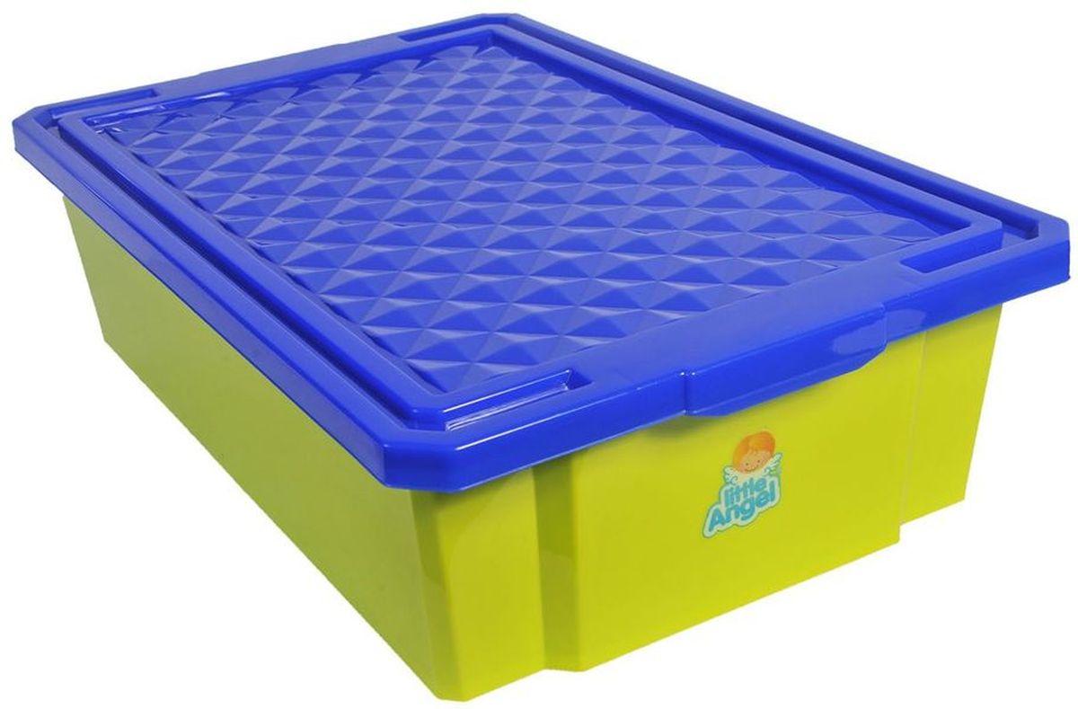Little Angel Детский ящик для хранения игрушек 30 л цвет фисташковыйLA1018GRВ нашем ящике можно разместить все, что угодно: детские игрушки или одежду. Им легко дополнить интерьер детской комнаты. С нашим ящиком ребенка легко приучить к порядку, так как ящик снабжен встроенными роликами и малышу легко самостоятельно передвигать его по комнате.