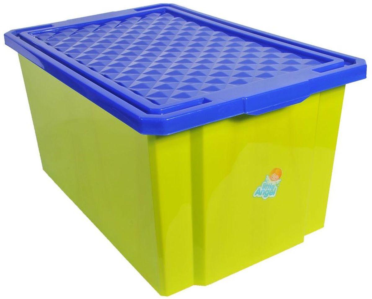 Little Angel Ящик для игрушек на колесах 57 л цвет фисташковый10503Детский ящик для игрушек Little Angel на колесах выполнен из прочного материала и украшен забавным изображением. В нем можно удобно и компактно хранить белье, одежду, обувь или игрушки. Ящик оснащен плотно закрывающейся крышкой, которая защищает вещи от пыли, грязи и влаги. Ящик оснащен четырьмя колесами. Декор ящика износоустойчив, его можно мыть без опасения испортить рисунок. Прочный каркас ящика позволит хранить как легкие вещи, так и более тяжелый груз. Такой ящик непременно привлечет внимание ребенка и станет незаменимым для хранения игрушек, книжек и других детских принадлежностей. Он отлично впишется в детскую комнату и поможет приучить ребенка к порядку.