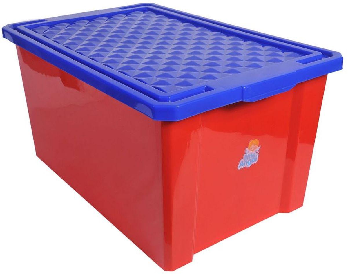 Little Angel Ящик для игрушек на колесах 57 л на цвет красный