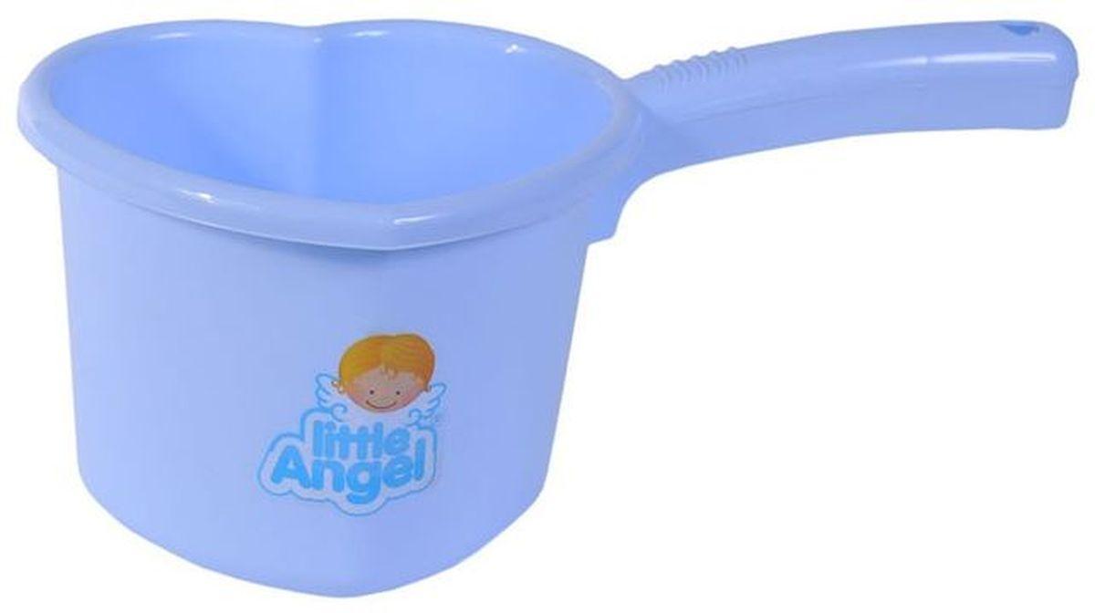 Little Angel Ковшик для детской ванночки цвет голубой LA1022BL