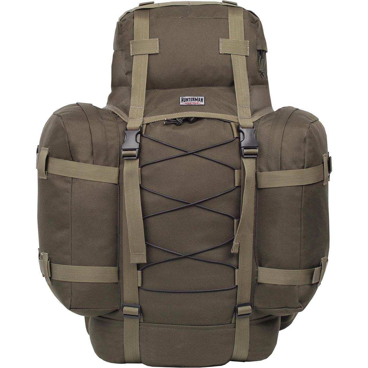 Рюкзак для охоты Nova Tour Контур 75 V3, цвет: зеленый, 75 лГризлиЛегкий, компактный рюкзак для охоты и рыбалки. Находка для любителей активного отдыха на природе! Стильный, вместительный, удобный в эксплуатации! Надежный помощник при переноске необходимого снаряжения для рыбной ловли и охоты. Вертикальная смягчающая вставка добавляет жесткости спинке рюкзака, в плавающем клапане карман для мелочей, съемная поясная стропа.
