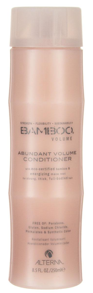 Alterna Кондиционер для объема Bamboo Abundant Volume Conditioner - 250 млFS-00897Кондиционер для придания волосам объема Alterna Bamboo Volume Abundant Volume Conditioner с чистым экстрактом бамбука укрепляет волосы, а благодаря экстракту корневищ перуанского женьшеня, обладающим стимулирующими свойствами и богатым фито-питательными элементами, насыщает волосы жизненной силой и укрепляет их, а изнутри помогает увеличить объем волос по всем трем аспектам: полнота, толщина и прикорневой объем.Результат: Кондиционер насыщает волосы энергией и необходимыми жизненно важными питательными веществами, увлажняя и придавая вашим волосам невероятный объем. Благодаря применению Alterna Bamboo Volume Abundant Volume Conditioner, ваши волосы будут выглядеть пышными, получат нужный объем и обновленный вид.