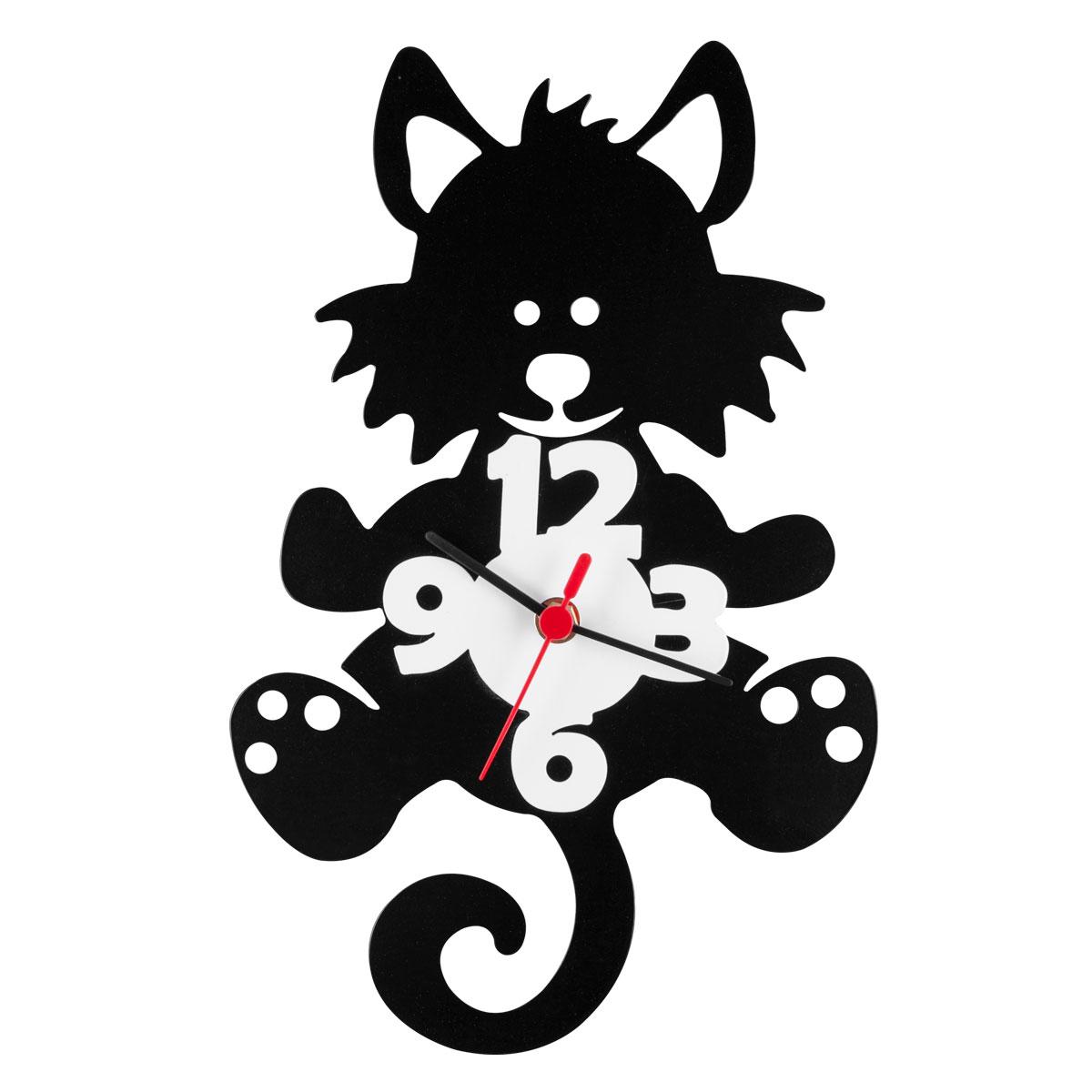 Часы настенные Miolla КотикCH015Оригинальные настенные часы круглой формы выполнены из стали. Часы имеют три стрелки - часовую, минутную и секундную и циферблат с цифрами. Необычное дизайнерское решение и качество исполнения придутся по вкусу каждому. Часы работают от 1 батарейки типа АА напряжением 1,5 В.