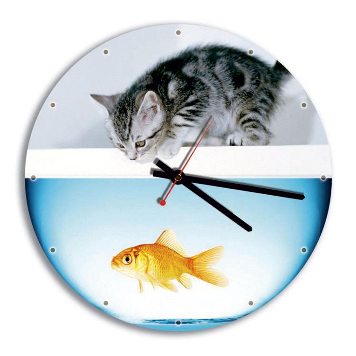 Часы настенные Miolla АквариумСК011 2085Оригинальные настенные часы круглой формы Miolla Аквариум выполнены из закаленного стекла. Часы имеют три стрелки - часовую, минутную и секундную. Необычное дизайнерское решение и качество исполнения придутся по вкусу каждому. Оформите свой дом таким интерьерным аксессуаром или преподнесите его в качестве презента друзьям, и они оценят ваш оригинальный вкус и неординарность подарка. Часы работают от 1 батарейки типа АА напряжением 1,5 В. Диаметр часов: 28 см.