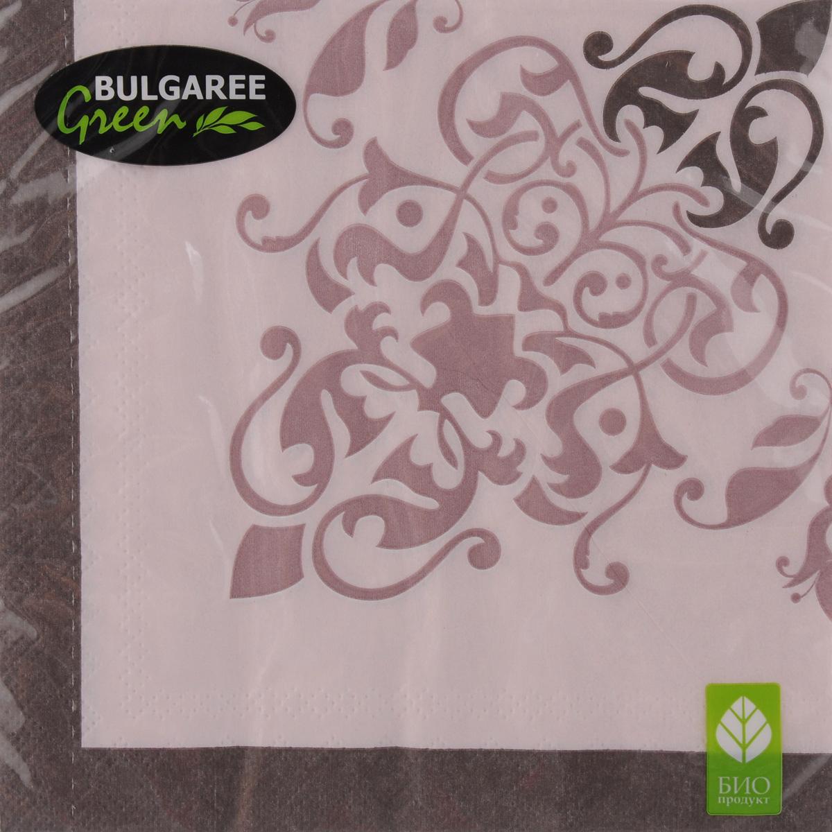 Салфетки бумажные Bulgaree Green Классика. Перфетто, трехслойные, 33 х 33 см, 20 шт1002238Декоративные трехслойные салфетки Bulgaree Green Классика. Перфетто выполнены из 100% целлюлозы европейского качества и оформлены ярким рисунком. Изделия станут отличным дополнением любого праздничного стола. Они отличаются необычной мягкостью, прочностью и оригинальностью. Размер салфеток в развернутом виде: 33 х 33 см.