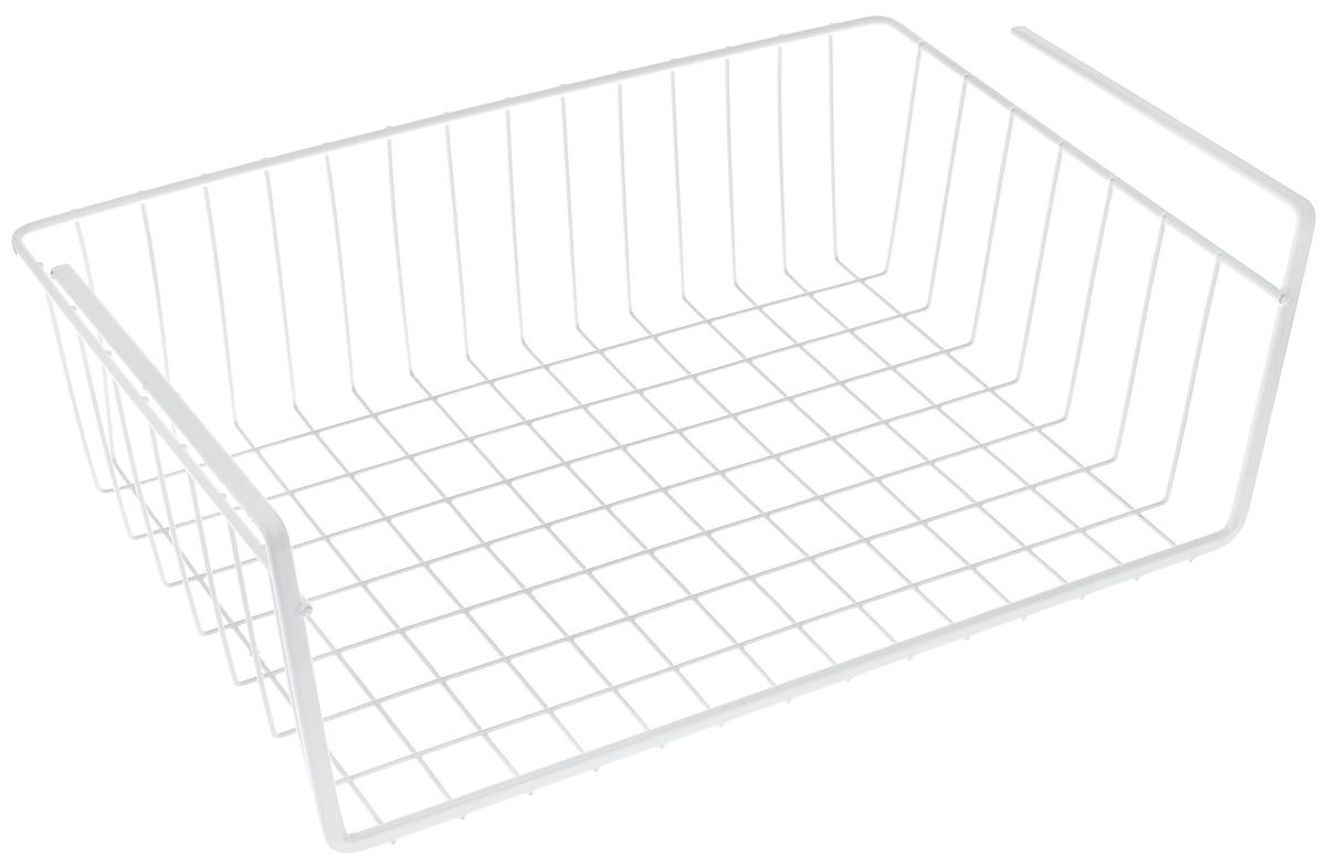 Полка подвесная Metaltex Babatex Color, цвет: белый, 40 х 26 х 14 смCM000001326Подвесная полка Metaltex Babatex Color, изготовленная из стали с цветным полимерным покрытием, сэкономит место на вашей кухне или в ванной. Современный дизайн делает ее не только практичным, но и стильным домашним аксессуаром. Полка надежно крепиться к поверхности при помощи двух держателей.Такая полка пригодится для хранения различных кухонных или других принадлежностей, которые всегда будут под рукой, и увеличит полезную площадь для хранения различных предметов.