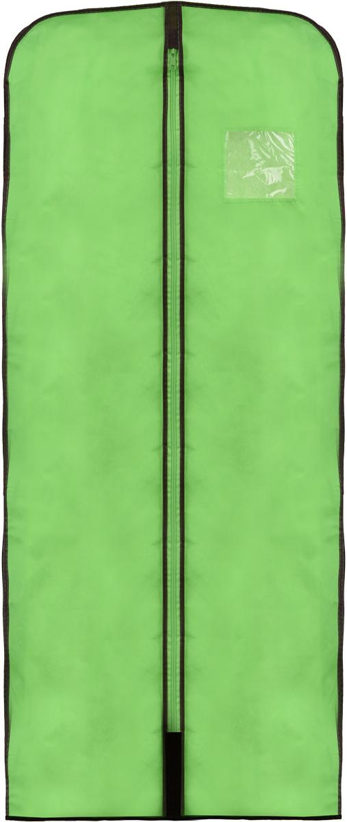 Чехол для меховой одежды Хозяюшка Мила, тканевый, цвет: зеленый, 60 х 137 смUP210DFЧехол для меховой одежды Хозяюшка Мила изготовлен из вискозы и оснащен застежкой-молнией. Особое строение полотна создает естественную вентиляцию: материал дышит и позволяет воздуху свободно проникать внутрь чехла, не пропуская пыль. Полиэтиленовое окошко позволяет увидеть, какие вещи находятся внутри. Широкая боковая вставка позволяет бережно хранить объёмную зимнюю одежду, такую как меховые шубы, дублёнки, пуховики. Чехол для меховой одежды Хозяюшка Мила защитит ваши вещи от повреждений, пыли, моли, влаги и загрязнений.