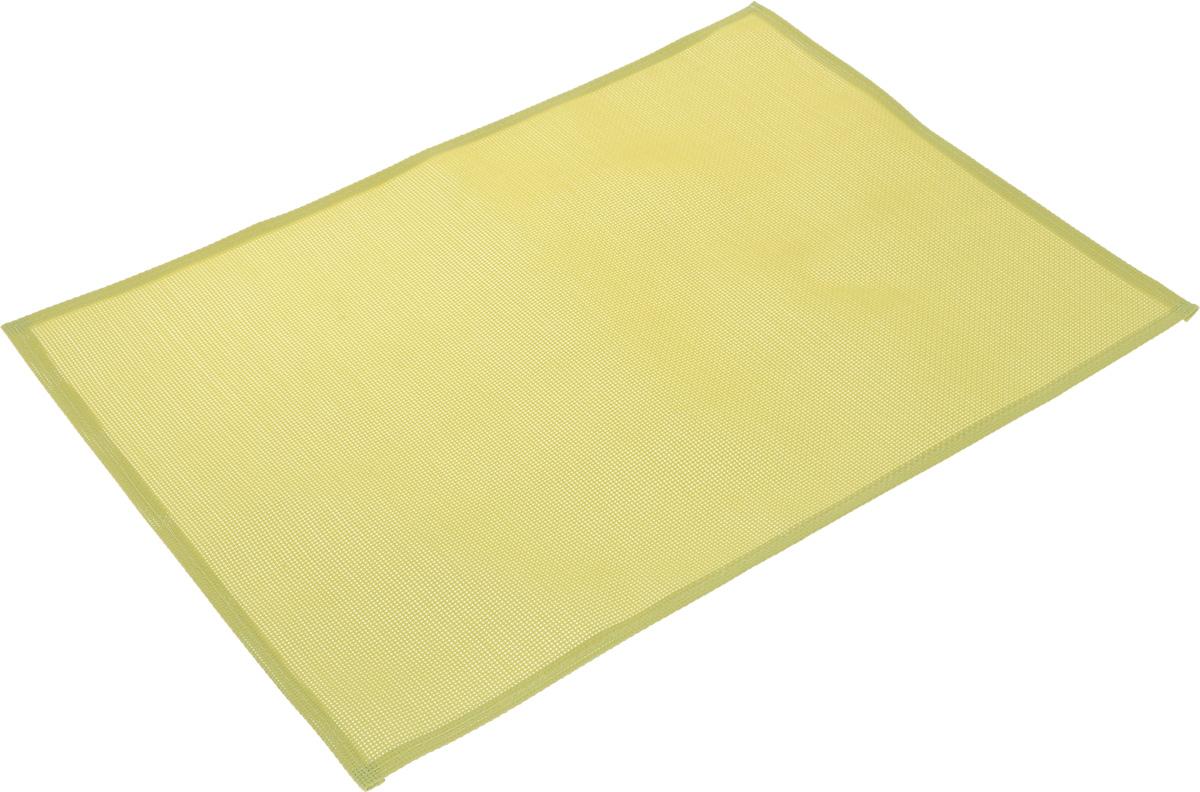 Салфетка сервировочная Tescoma Flair Lite, цвет: лайм, 45 х 32 см790009Элегантная салфетка Tescoma Flair Lite, изготовленная из прочного искусственного текстиля, предназначена для сервировки стола. Она служит защитой от царапин и различных следов, а также используется в качестве подставки под горячее. После использования изделие достаточно протереть чистой влажной тканью или промыть под струей воды и высушить.Не мыть в посудомоечной машине, не сушить на батарее.Размер салфетки: 45 х 32 см.